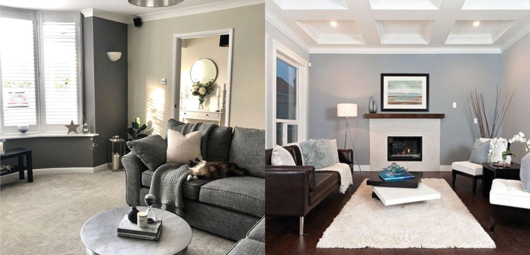 grey walls in properties
