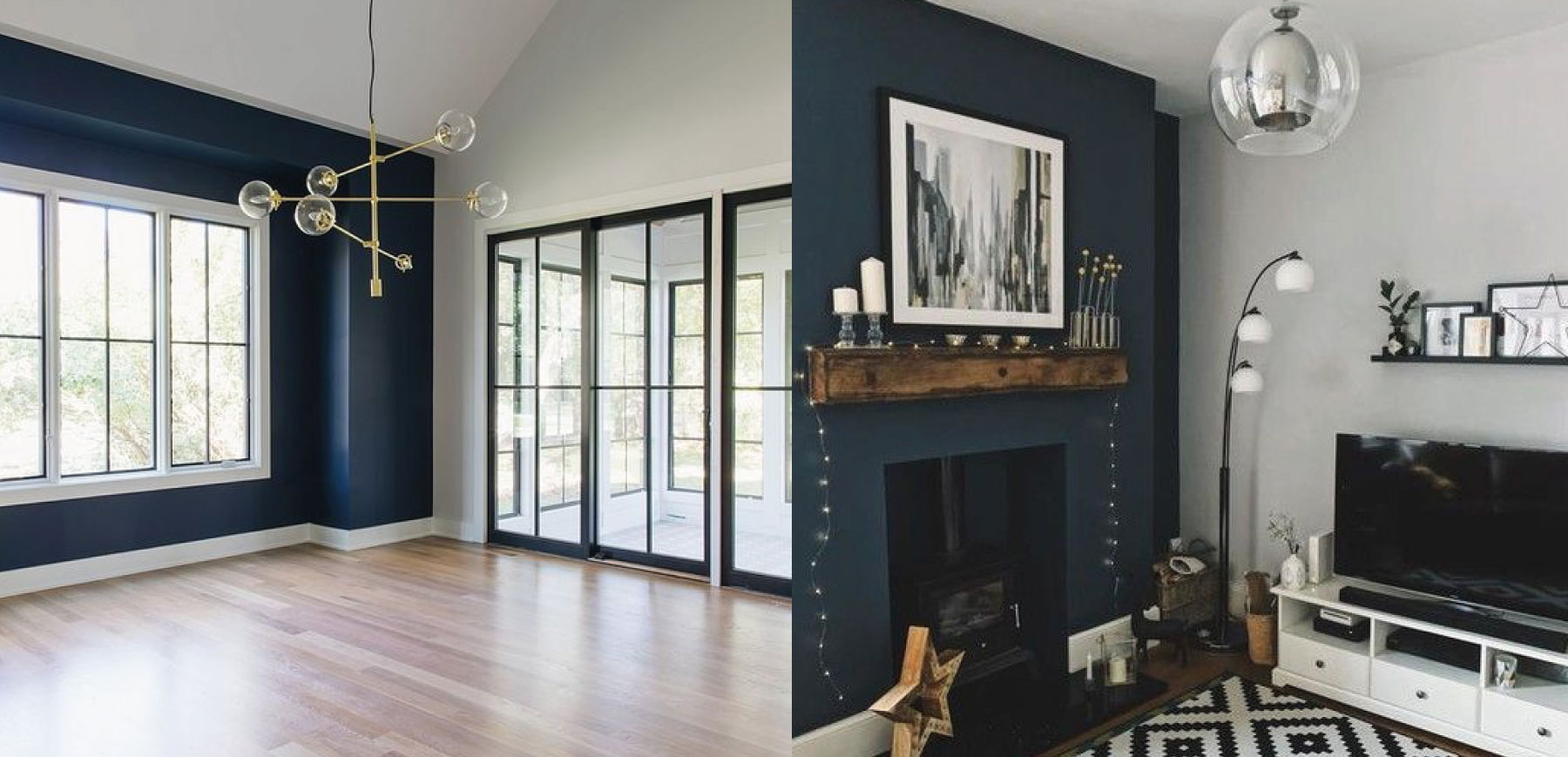 Using the colour navy in your rental property